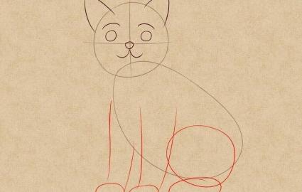 Как легко нарисовать кошку