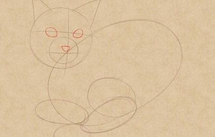 Как нарисовать кошку легко и просто
