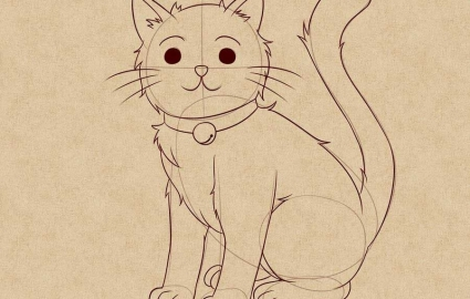 Легко нарисовать кошку