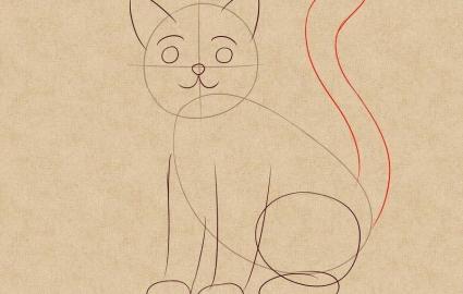 Как нарисовать кошку легко