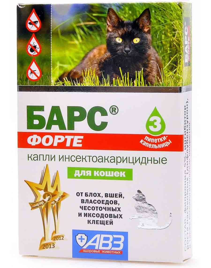 Барс средство от блох для кошек