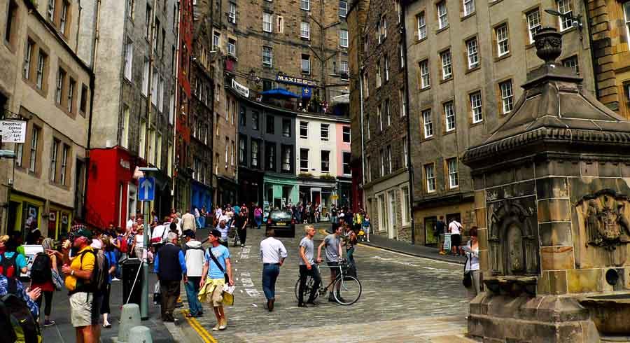 Главная улица Эдинбурга