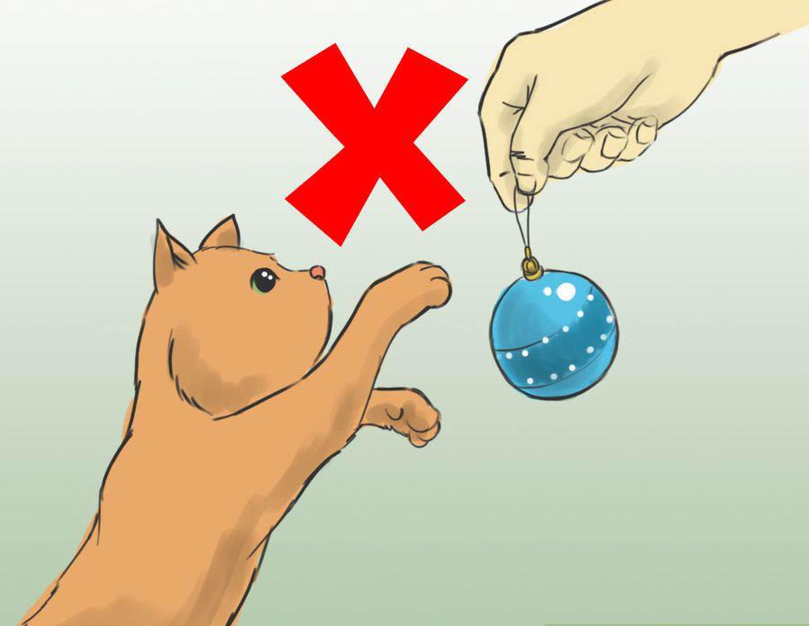 Как защитить елку от кошки