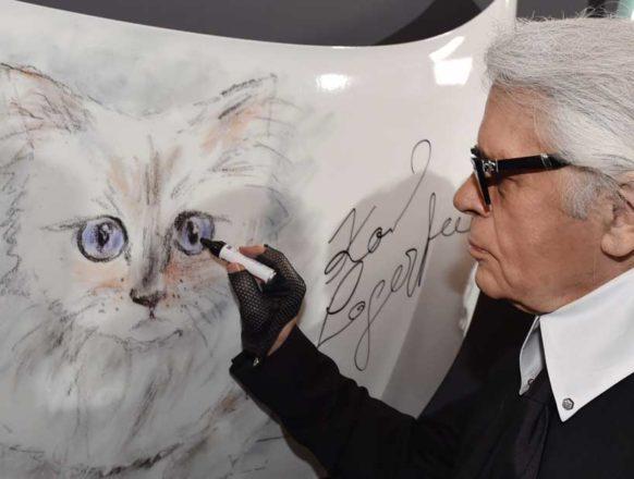 Кошка Карла Лагерфельда