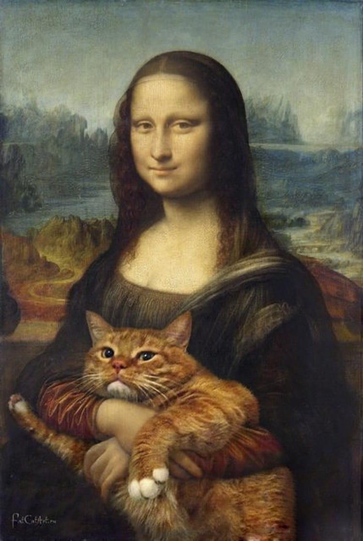 Мона Лиза с котом: фото