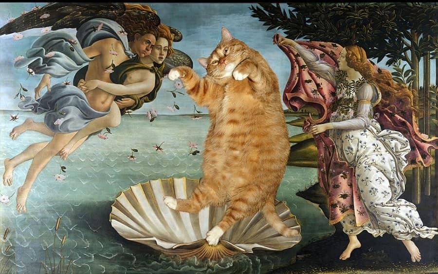 Рыжий кот на картинах известных художников