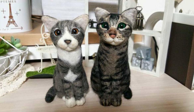 Просто валяние: кошка или кот из шерсти