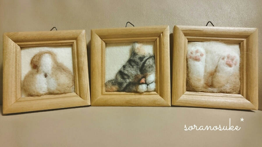 Валяние из шерсти кошек